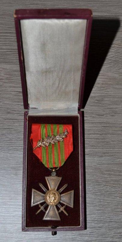 croix de guerre 1939 avec palme