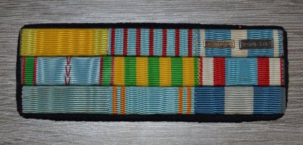 Barrette de Médailles de rappel d'un ancien de 39/45,indo et d'Afrique du Nord