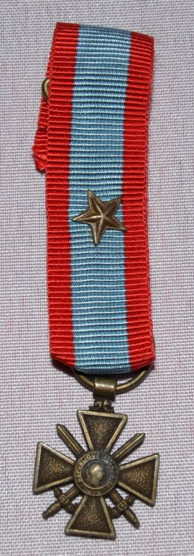 Croix de Guerre des Théâtres d'Opérations Extérieurs (modèle miniature)