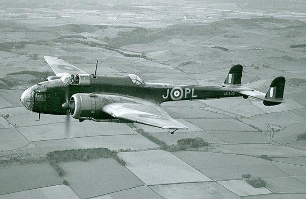 Bombardier Handley Page abattu sur la commune d'Ambarès