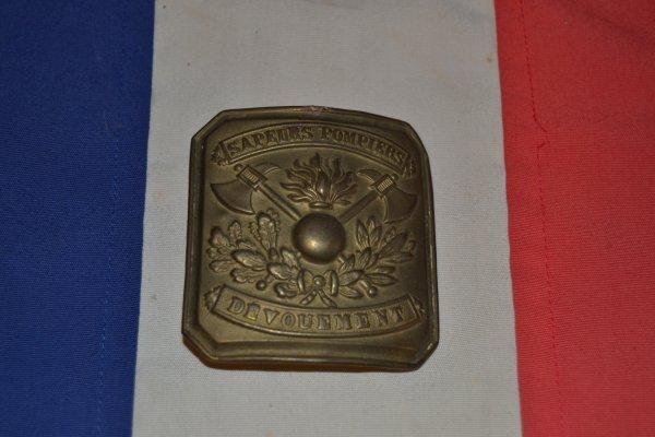 Boucle ceinturon de sapeurs-pompier modèle 1895