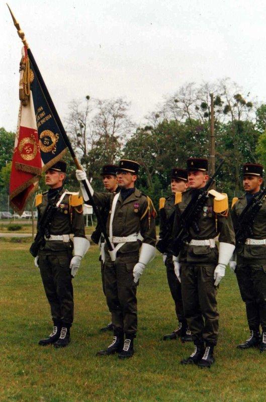 garde drapeau au 2eme Rima 1986