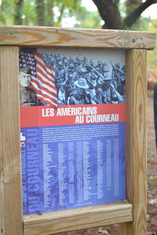 Stèle du cimetière Nmr 29 du corps Expéditionnaire Américain