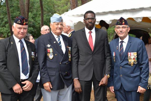 Hommage aux Tirailleurs Sénégalais à la Nécropole de la Teste de Buch