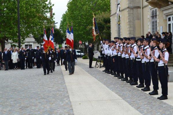 Cérémonie de la commémoration de la Victoire du 8 mai 1945 célébrée le 8 mai 2018 à la Teste de Buch