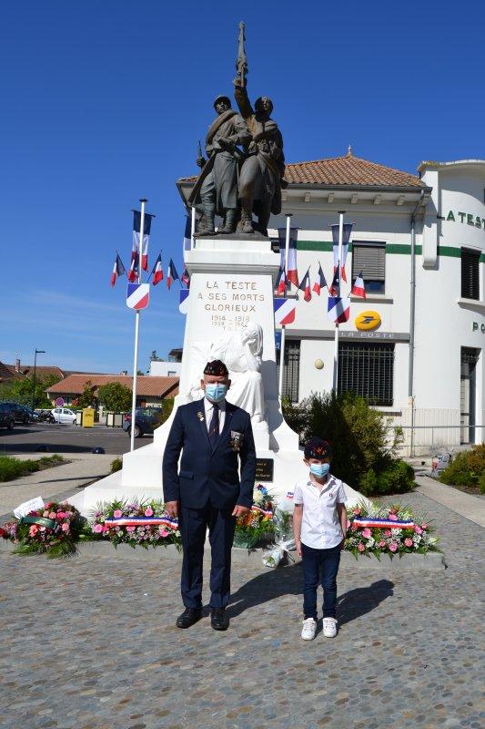 Commémoration de la victoire du 8 mai 1945 à la Teste de Buch