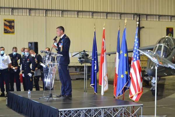 Passation de commandement de la BA120 le 26 Aout 2021