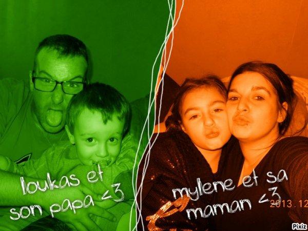 mon homme et notre fils et moi et ma fille