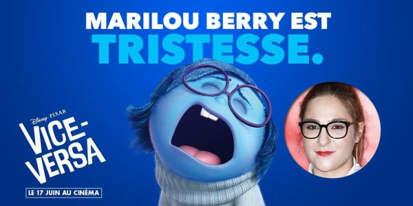 """Marilou Berry fera la voix Française de Tristesse dans """"Vice-Versa"""""""