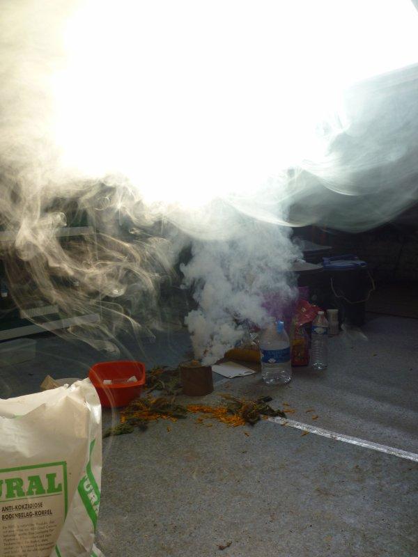 voila fumigenne efectuer