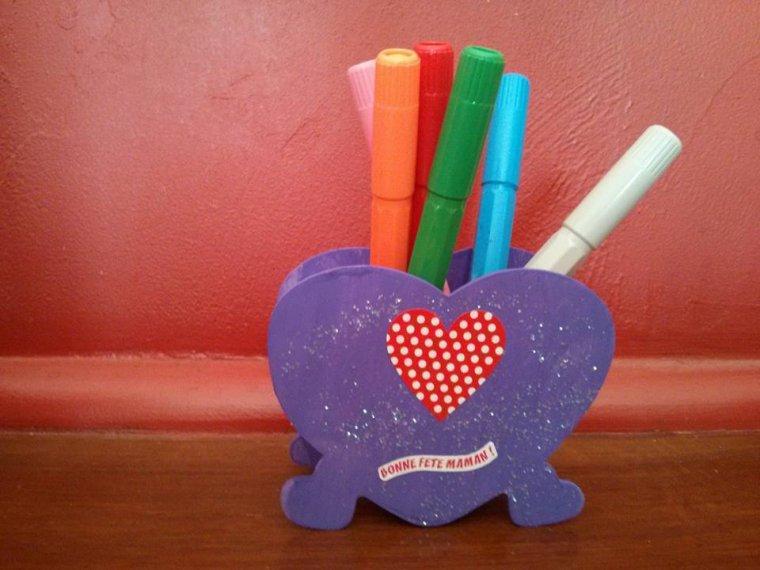 Pot a crayon en bois....pour la fête des mamans