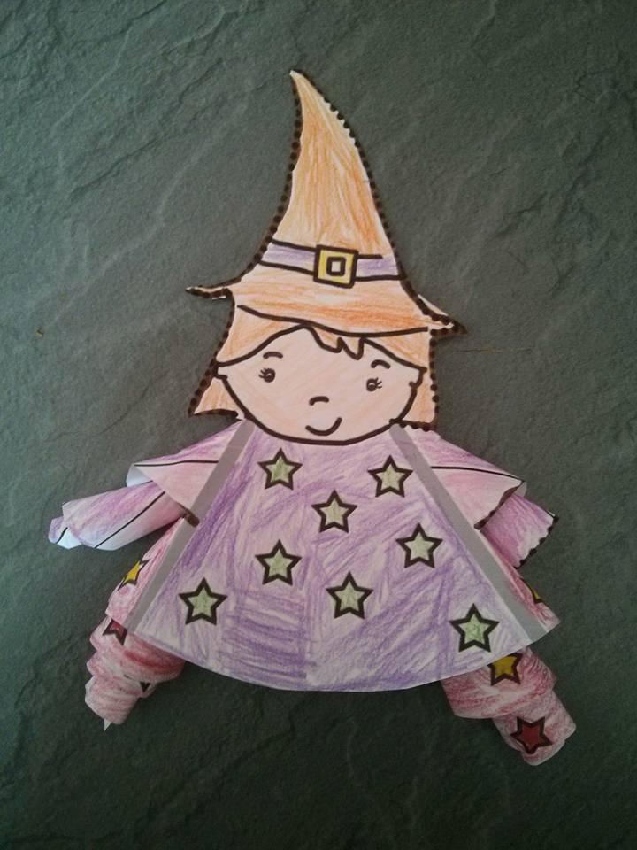 Coloriage sorcière en 3D...Lara 9 ans, Adrien 4 ans
