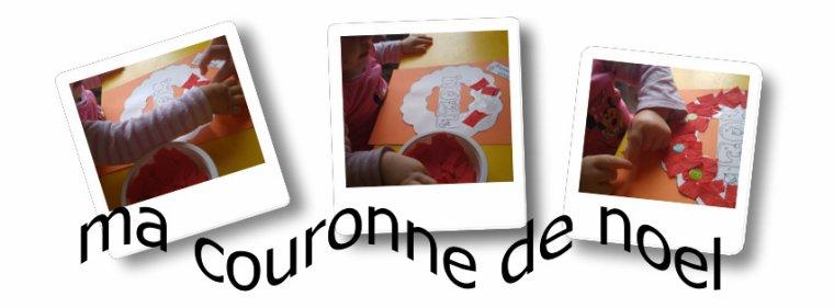 """Couronne """" Joyeux Noel 2016 """" par Lana, Euan et Jade"""