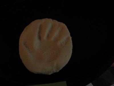Empreinte de main en Pâte à sel