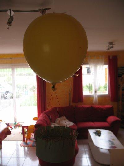 Nid de pâques montgolfière