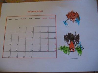 Le calendrier de novembre