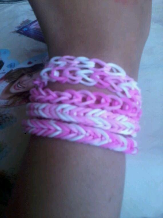Voila mes bracelet crazy loom