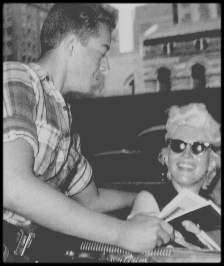 1955 / Photos James HASPIEL, fan et ami de Marilyn, à New-York.