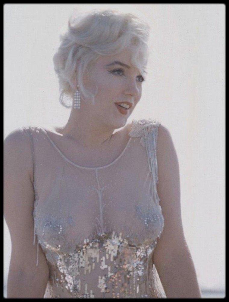 "1958 / Marilyn lors du tournage du film ""Some like it hot"", photos Richard C MILLER."