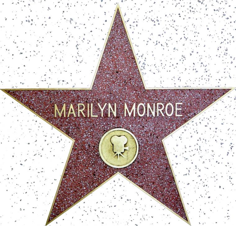 8 Février 1960 Létoile Walk Of Fame De Marilyn Est