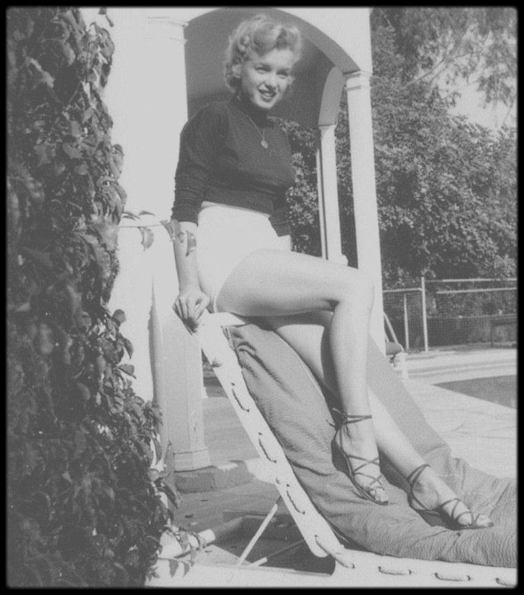 1950 / Hollywood, Marilyn vue par le photographe Bob BEERMAN.