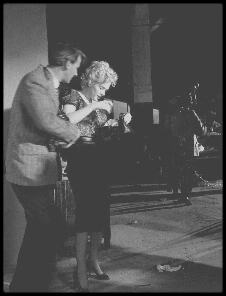 """1956 / Nouvelles photos de Marilyn lors du tournage du film """"Bus stop"""" de Joshua LOGAN."""