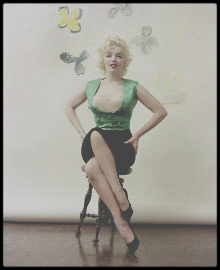 1955 / Marilyn sous l'objectif du photographe Milton GREENE.