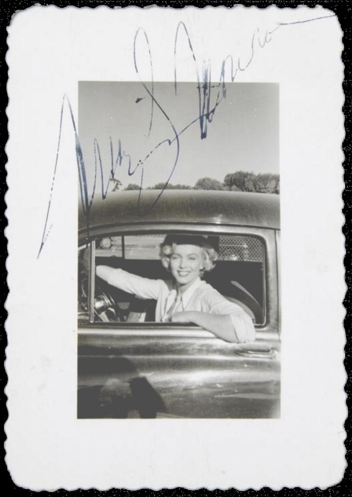 Mid 50's, RARE Marilyn autograph.