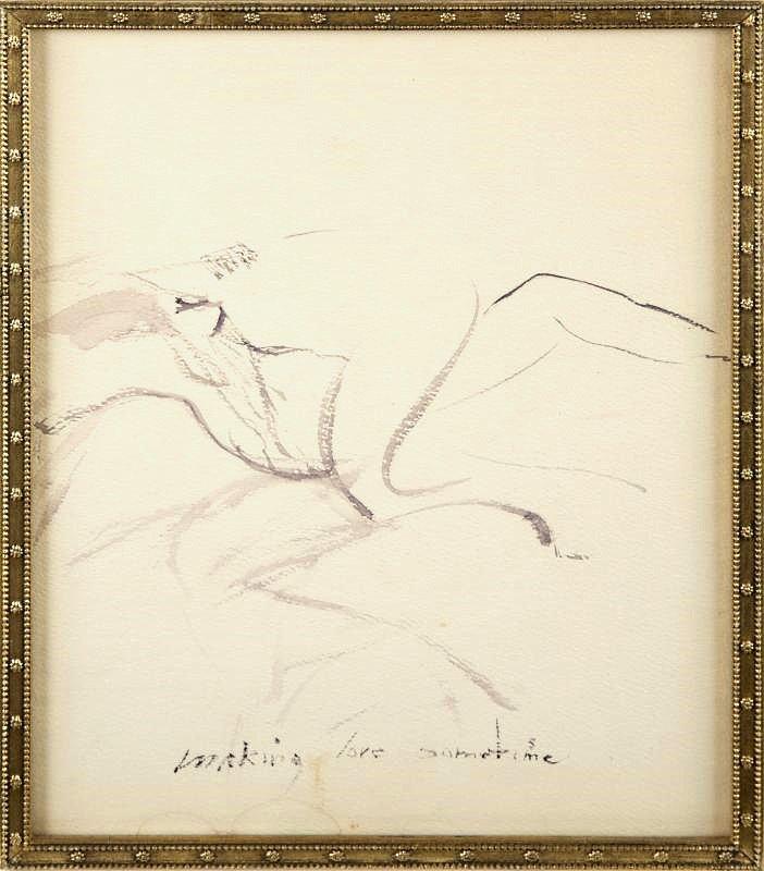 """DESSINS au crayon de la main de Marilyn retrouvés et mis aux enchères chez """"Julien's auction"""" à Los Angeles."""