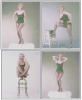 "1956 / Marilyn dans le costume qu'elle porte lors du numéro musical du film ""Bus stop"" où elle chante la chanson ""That old black magic"", photos de Milton GREENE."