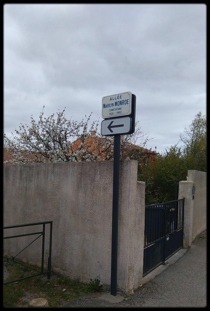 UN FAN COMBLE / Il se fait qu'à 300 m environ de chez moi (VALENCE dans la Drôme) une allée porte le nom de ma STAR... ça ne s'invente pas !