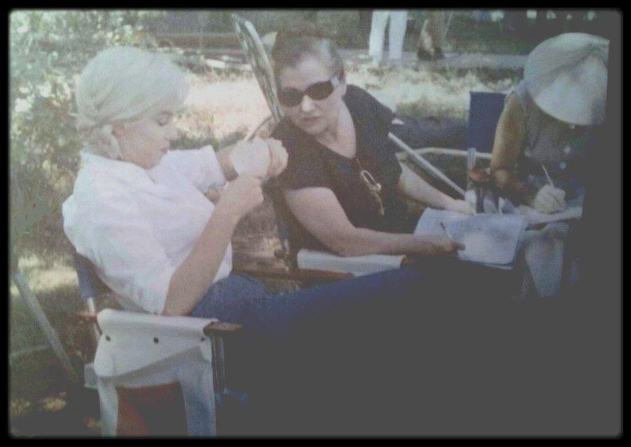 """1960 / Sur le tournage du film """"The misfits"""", pour mon amie Simona."""