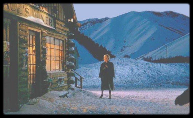 """1956 / Images du film """"Bus stop"""" de Joshua LOGAN."""