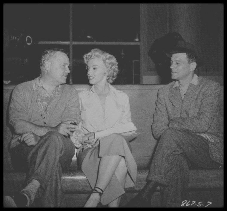 """1952 / AUTOUR DU FILM """"NIAGARA""""."""
