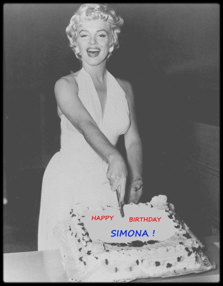 MESSAGE PERSO / Un joyeux anniversaire Simona, que cette journée te soit dédiée et belle, on pense pas au temps, GROS BISOUS, Chris...