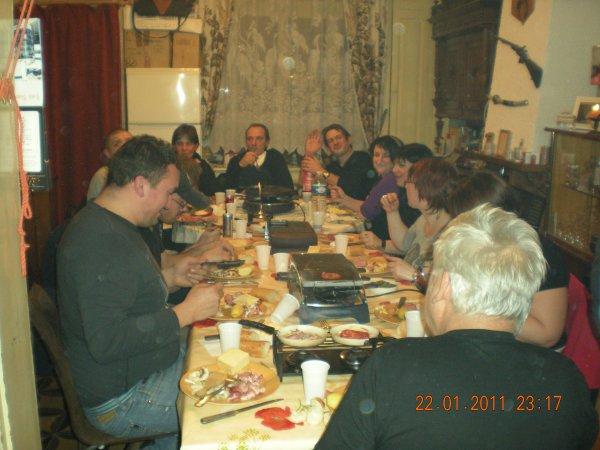 photo de notre soirée raclette + fondu chocolat