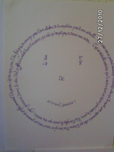 Calligraphie circulaire : en forme de smiley