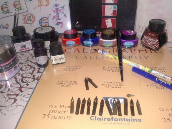 Mon petit atelier de calligraphie