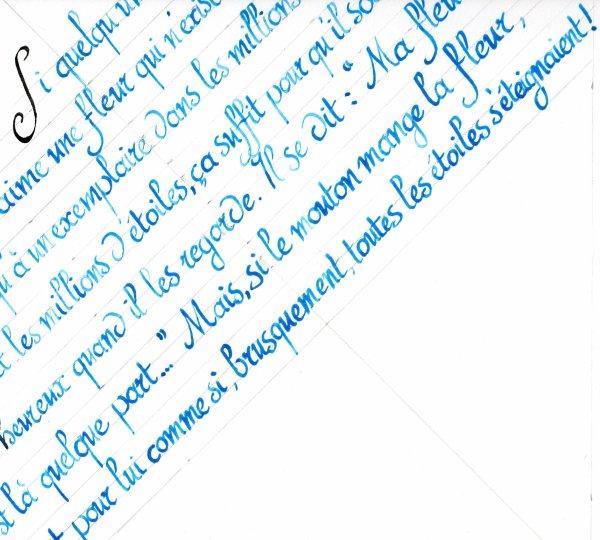 Calligraphie du Petit Prince
