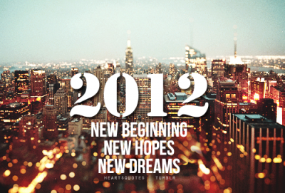 For 2012 I wish to have fun without any regrets