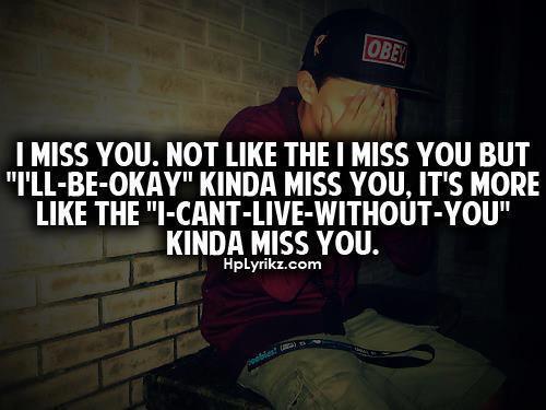 Einfach weil ich dich jetzt schon vermisse...