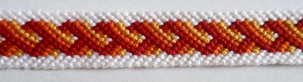 Bracelet brésilien couleurs feu !