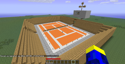 Terrain de tennis mon minecraft for Surface d un terrain de tennis
