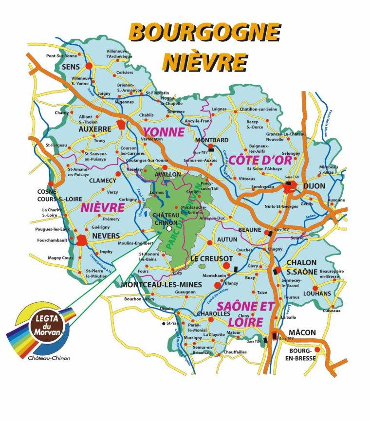 Le fuilet(49) vers Autun(71) cliquez sur le lien google.fr