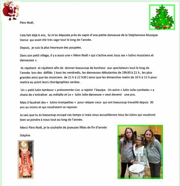 Lettre au Père Noël le 22 décembre 2016