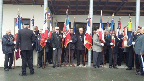 Commémoration cantonale du 11 novembre 2017 à Grand'landes (85)