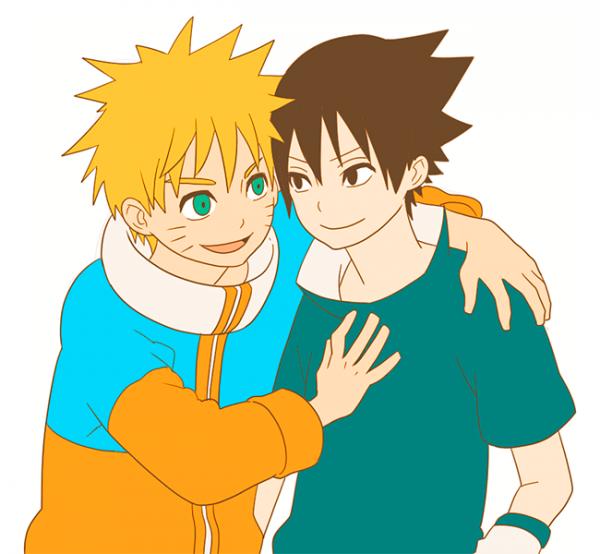 Naruto et Sasuke.
