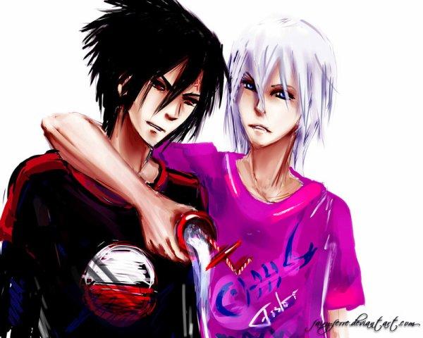 Sasuke et Suigetsu. <3