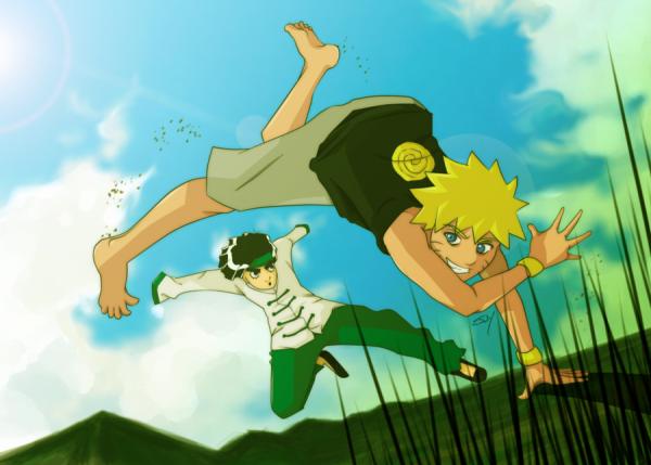 Naruto et Lee.