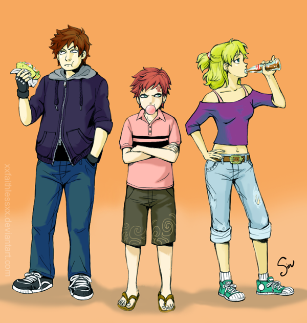 Kankuro, Gaara et Temari.